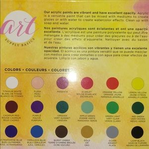 American Crafts Office - Acrylic Art Supply Basics Paints 18 piece new set